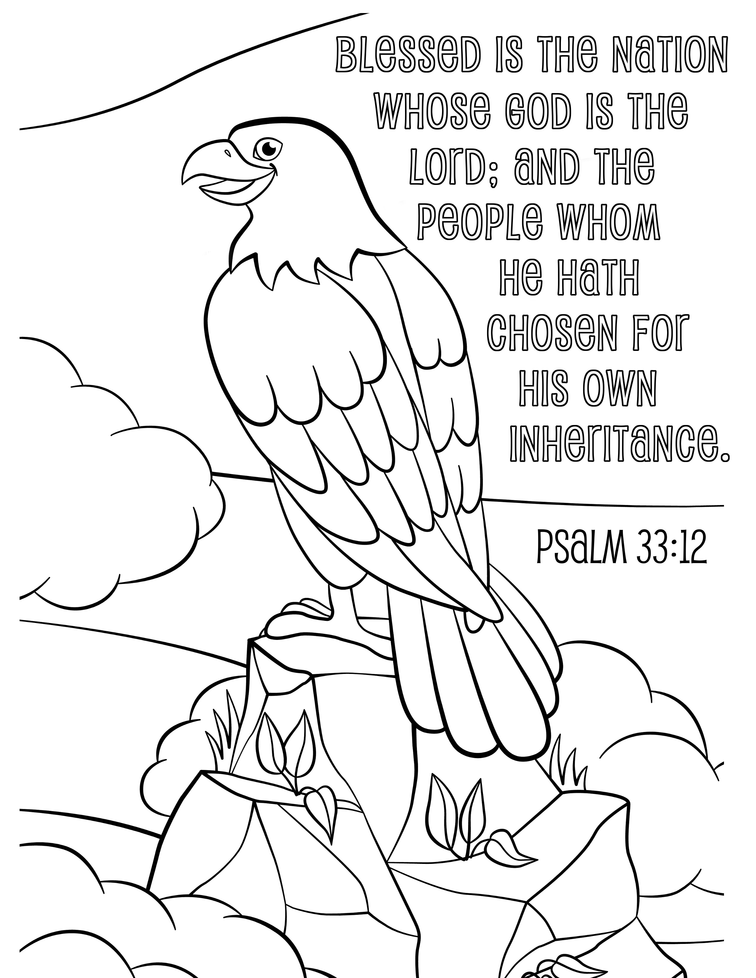 Coloring pages psalm 33 - Coloring Pages
